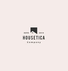 house home roof logo hipster vintage retro icon vector image