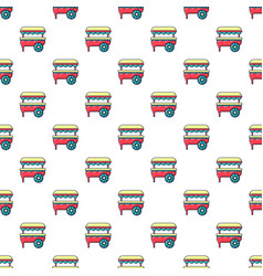 Ice cream cart pattern seamless vector