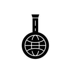 idea market research black concept icon vector image
