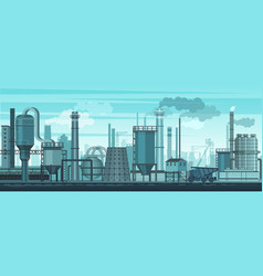 Industrial landscape background industry vector