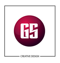 initial gs letter logo template design vector image