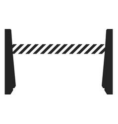 isolated traffic barricade vector image