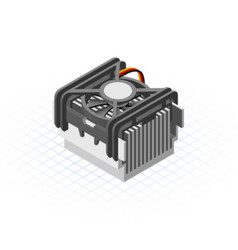 Isometric Fan Processor vector image