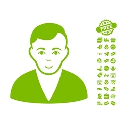 Man Icon With Free Bonus vector