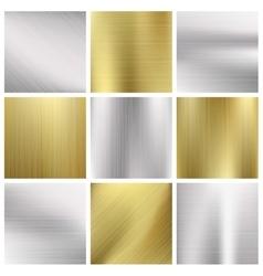 Metal textures set vector