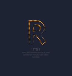modern dotted letter r latin alphabet vector image