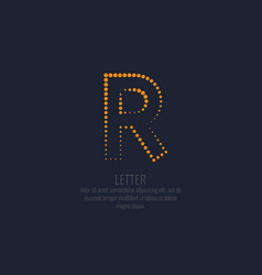 modern dotted letter r of the latin alphabet vector image