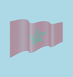 morocco flag on blue background wave strip vector image