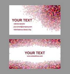Multicolor tile mosaic business card template vector image