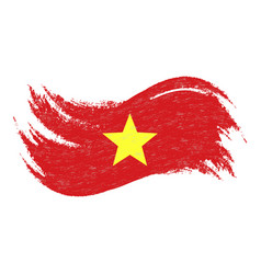 National flag of vietnam designed using brush vector