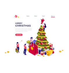 new year holidays web banner vector image