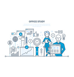 office study research marketing statistics vector image