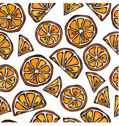 orange seamless slices background pattern of vector image