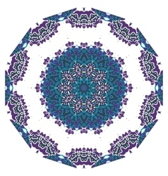 Ornamental round lace indian style Islamic art vector image