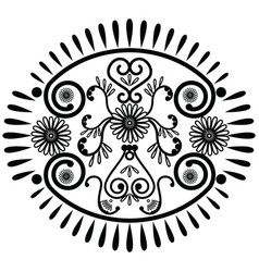 Oval pattern inspired by Asian culture vector