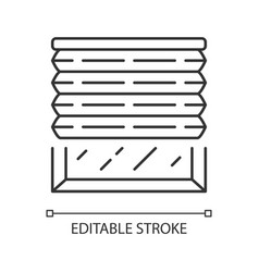 Pleated blinds linear icon cellular shades window vector