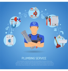 Plumbing Service Concept vector image