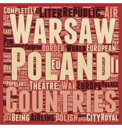 Poland text background wordcloud concept vector