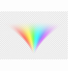Rainbow road isolated on light transparent vector