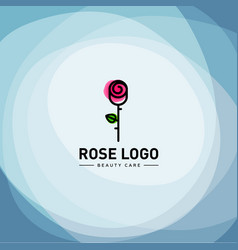rose logo design vector image