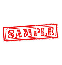 sample stamp on white background stamp sign vector image