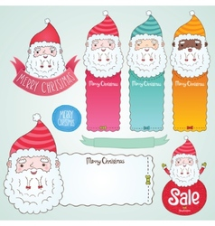 Santa Claus and Christmas banner set vector image