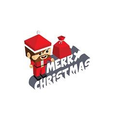 santa claus merry christmas cartoon vector image