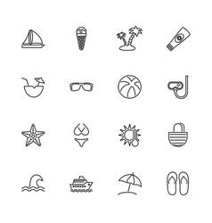 sea travel - flat icons vector image