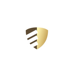 shield business finance company logo vector image