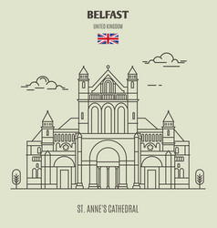 st annes cathedral in belfast vector image