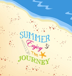 Summer enjoy the jorney on the beach background vector
