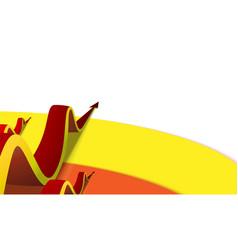three wavy arrows go up the color strips vector image