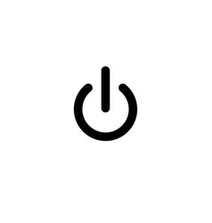 Turn off sign icon simple design eps10 vector