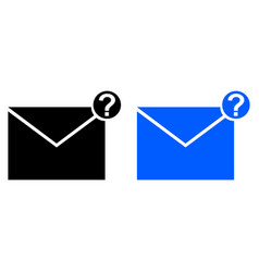 Unknown message icon vector