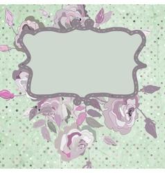 Vintage background flower template EPS 8 vector image