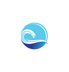wave beach logo and symbols template vector image