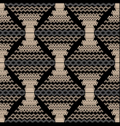 zigzag modern seamless pattern vector image