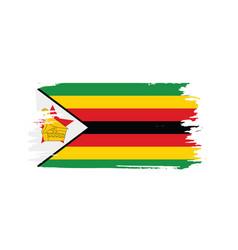 Zimbabwe flag vector