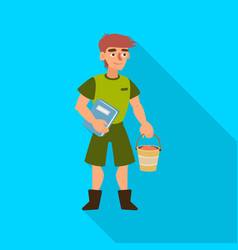 Zookeeper and man sign set vector