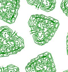 circuit board pattern vector image vector image