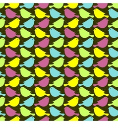 Colorful birds seamless patterns vector image vector image