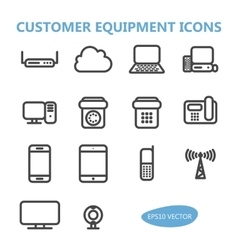 Communication Equipment Icons vector image vector image
