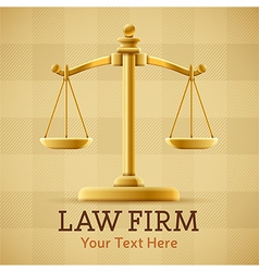 Law Firm Justice Scale Background vector image vector image