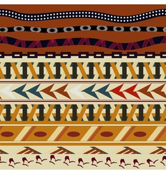 Tribal seamless texture in the African style vector image vector image