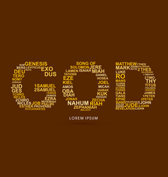 god with bible words genesis to revelation vector image