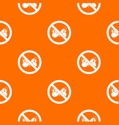 no butterfly sign pattern seamless vector image vector image