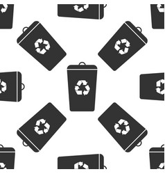 recycle bin icon seamless pattern vector image vector image