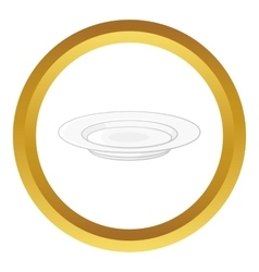 Soup plate icon vector image