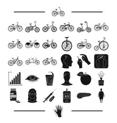 trip rest sport and other web icon in black vector image vector image