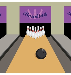 Bowling game vector image vector image